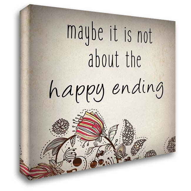Happy Ending 1 28x28 Gallery Wrapped Stretched Canvas Art by Kimberly, Allen