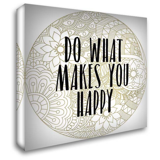 Happy 1 28x28 Gallery Wrapped Stretched Canvas Art by Kimberly, Allen