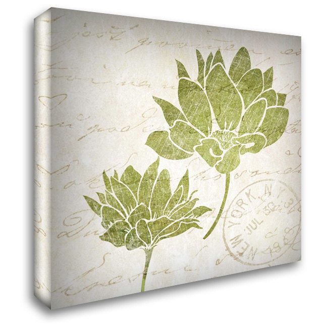 Hand Writing Flower I 28x28 Gallery Wrapped Stretched Canvas Art by Emery, Kristin