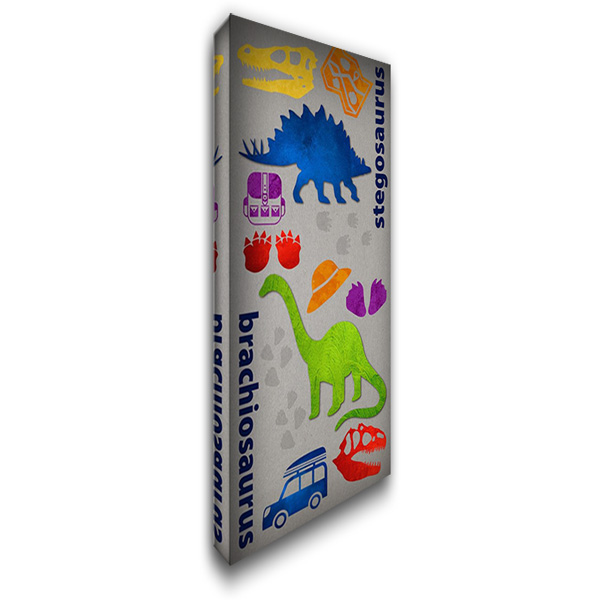 Dino Journy 1 22x40 Gallery Wrapped Stretched Canvas Art by Hogan, Melody