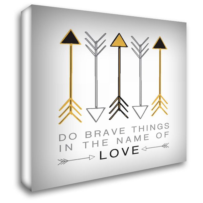 Do Brave Things 28x28 Gallery Wrapped Stretched Canvas Art by Hogan, Melody