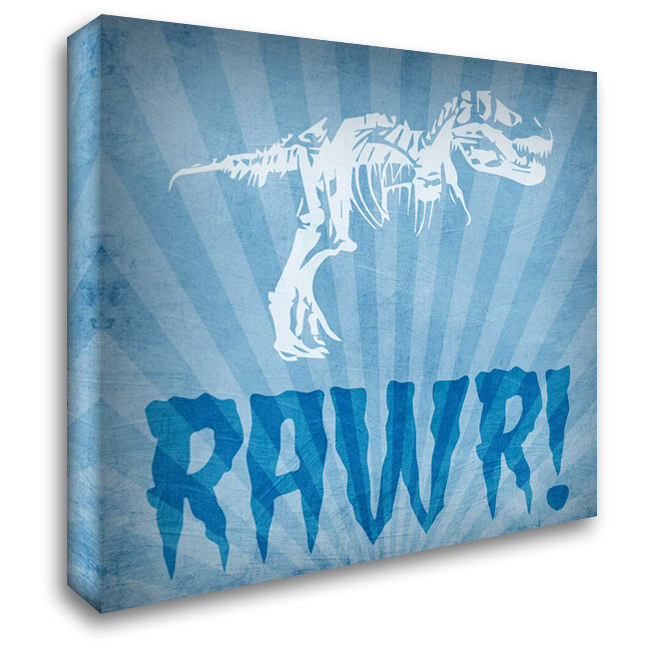 Dino Bones 1 28x28 Gallery Wrapped Stretched Canvas Art by Prime, Marcus