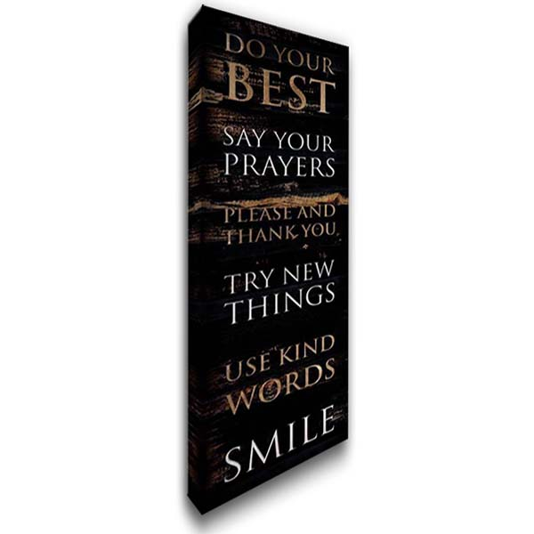 Do Your Best 16x40 Gallery Wrapped Stretched Canvas Art by Villa, Mlli