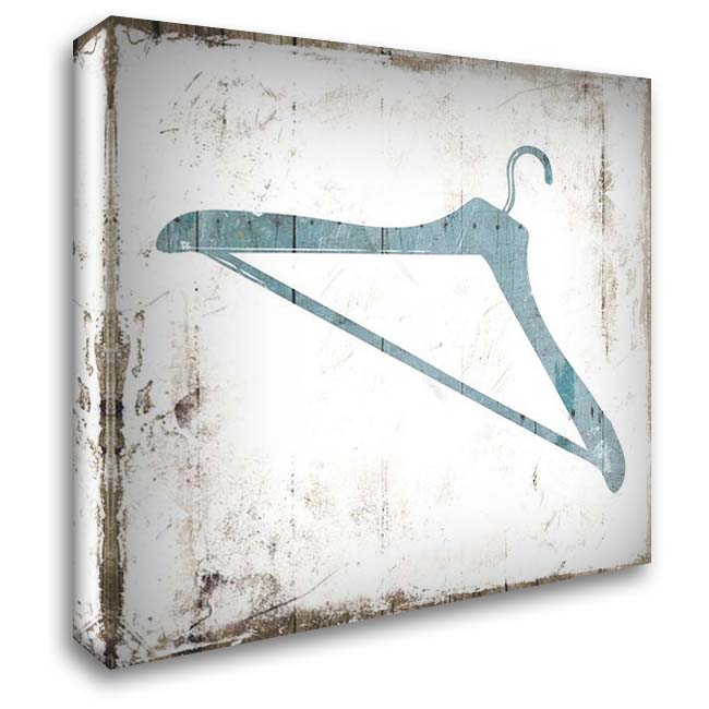 Hanger Laundry 28x28 Gallery Wrapped Stretched Canvas Art by Villa, Mlli