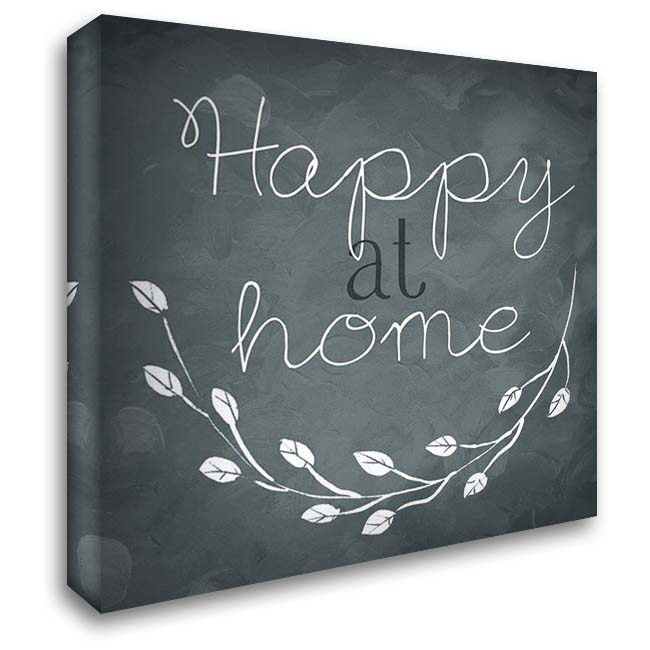 Happy At Home 28x28 Gallery Wrapped Stretched Canvas Art by Villa, Mlli