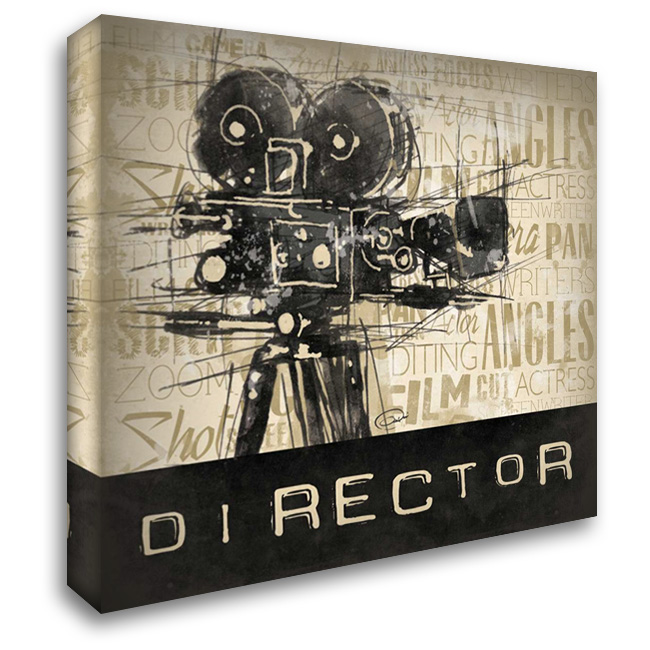Director 28x28 Gallery Wrapped Stretched Canvas Art by OnRei