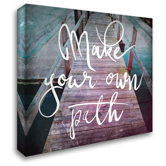 Dock Path 28x28 Gallery Wrapped Stretched Canvas Art by OnRei