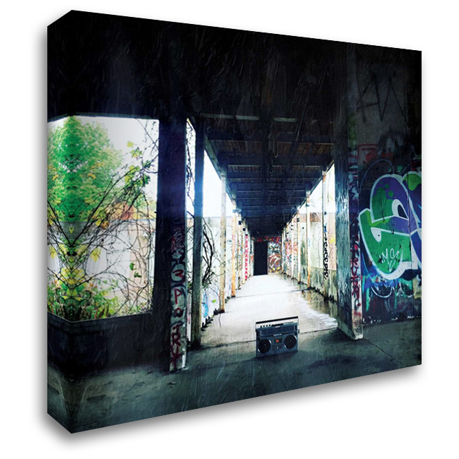 Hallway Boom 28x28 Gallery Wrapped Stretched Canvas Art by OnRei