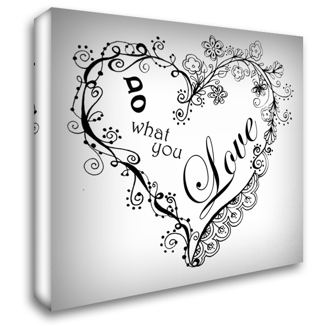 Do What You Love 28x28 Gallery Wrapped Stretched Canvas Art by Pearson, Debbie
