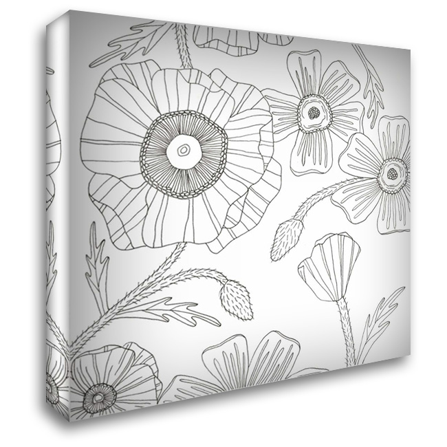 Hairy Flourish 28x28 Gallery Wrapped Stretched Canvas Art by Varacek, Pam