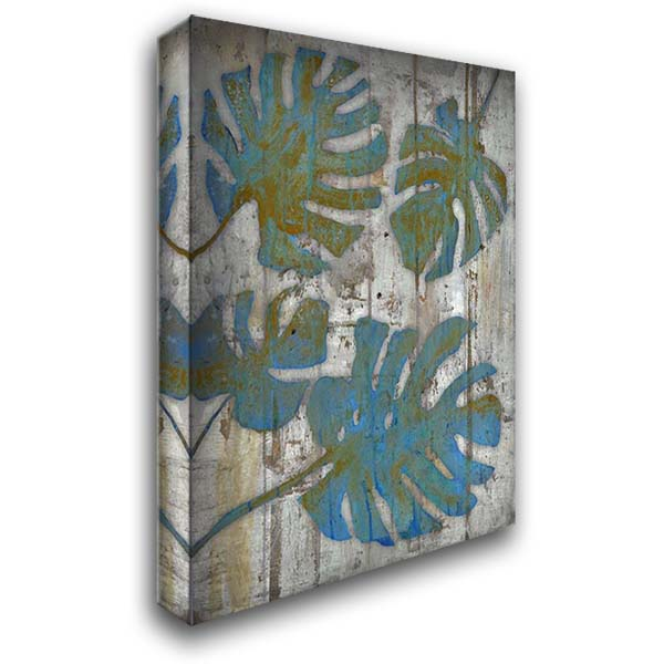 Distressed Palms 28x36 Gallery Wrapped Stretched Canvas Art by Haynes, Smith