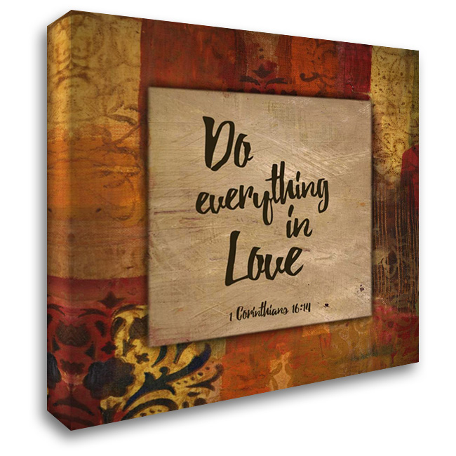 Do Everything in Love Autumn Blooms 28x28 Gallery Wrapped Stretched Canvas Art by Haynes, Smith