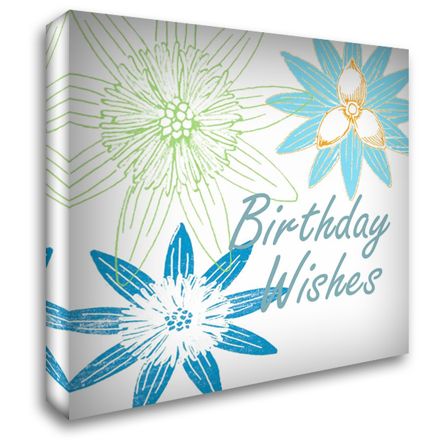 Happy Birthday 28x28 Gallery Wrapped Stretched Canvas Art by Lewis, Sheldon