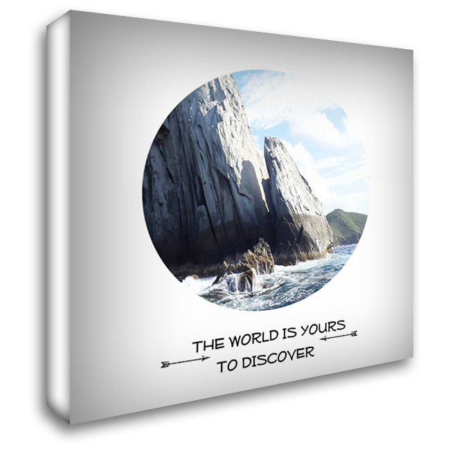 Discover The World 28x28 Gallery Wrapped Stretched Canvas Art by Lewis, Sheldon