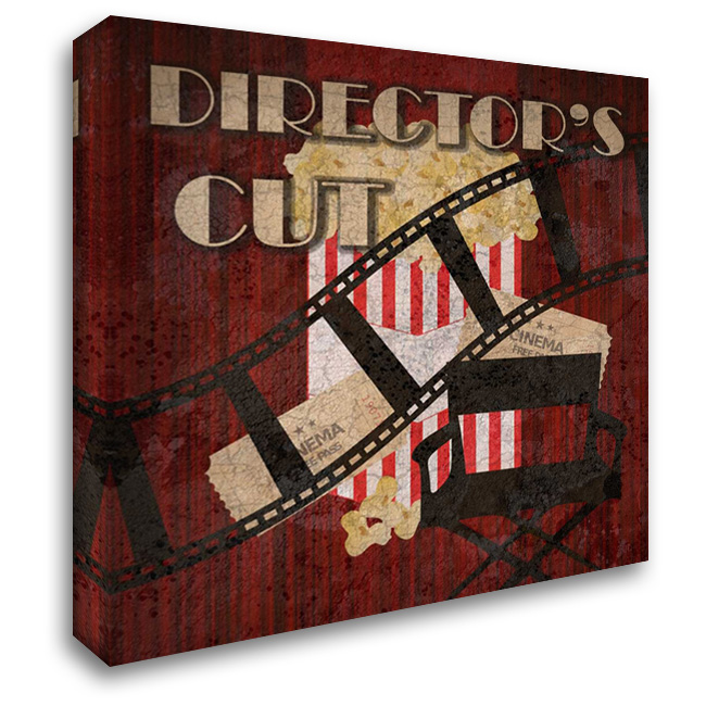 Directors Cut 1 28x28 Gallery Wrapped Stretched Canvas Art by Lewis, Sheldon