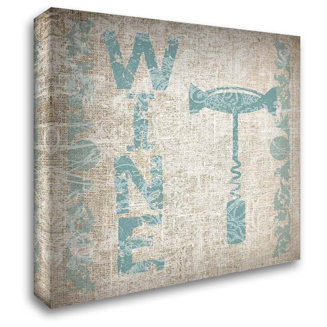 Dinner With Wine 28x28 Gallery Wrapped Stretched Canvas Art by Lewis, Sheldon
