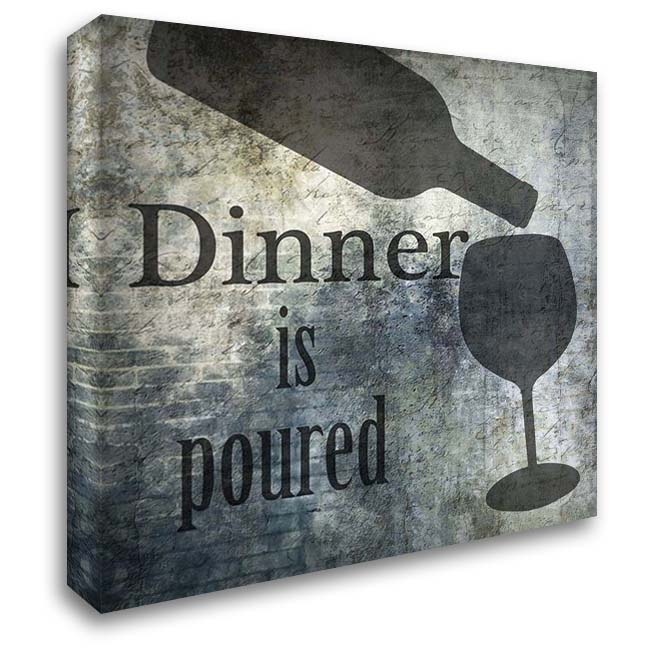 Dinner Is Poured 28x28 Gallery Wrapped Stretched Canvas Art by Lewis, Sheldon