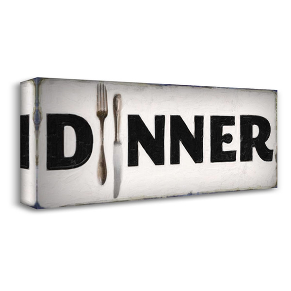 DINER SIGN 40x18 Gallery Wrapped Stretched Canvas Art by Greene, Taylor