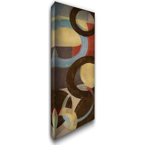 HALO WEAVE VII 16x40 Gallery Wrapped Stretched Canvas Art by Greene, Taylor