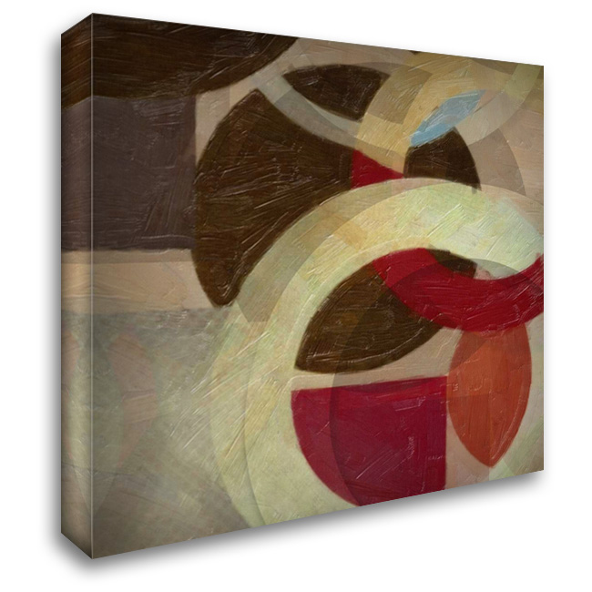 HALO WEAVE I 28x28 Gallery Wrapped Stretched Canvas Art by Greene, Taylor