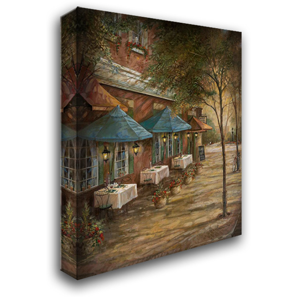 Dinner For Two 28x36 Gallery Wrapped Stretched Canvas Art by Manning, Ruane