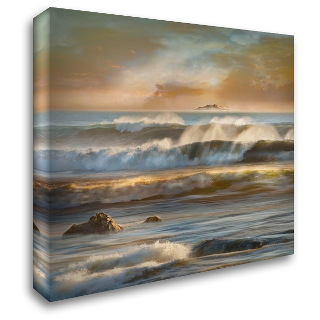 Distant Island 28x28 Gallery Wrapped Stretched Canvas Art by Calascibetta, Mike
