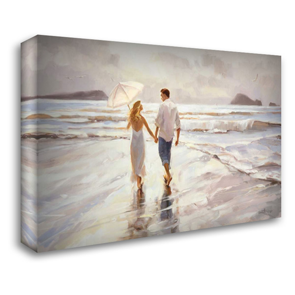Hand in Hand 40x28 Gallery Wrapped Stretched Canvas Art by Henderson, Steve