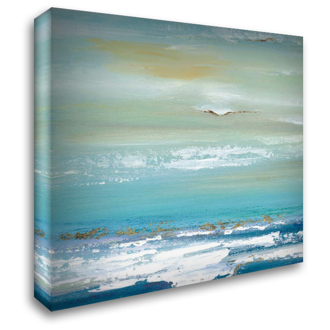 Distant Horizon Detail 28x28 Gallery Wrapped Stretched Canvas Art by Tava Studios