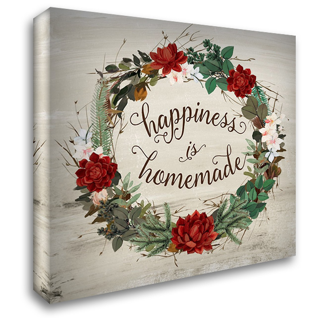 Happiness is 28x28 Gallery Wrapped Stretched Canvas Art by Murray, Amanda