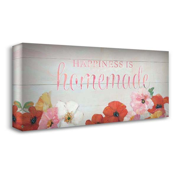 Happiness is 40x22 Gallery Wrapped Stretched Canvas Art by Swatland, Sally