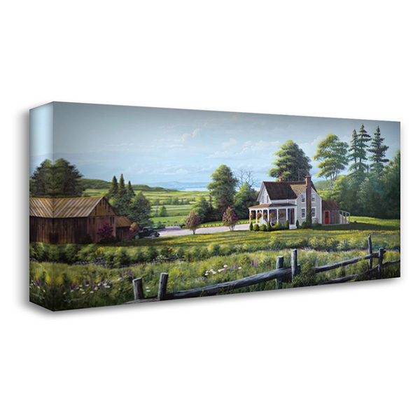 Hanging Basket 40x22 Gallery Wrapped Stretched Canvas Art by Saunders, Bill