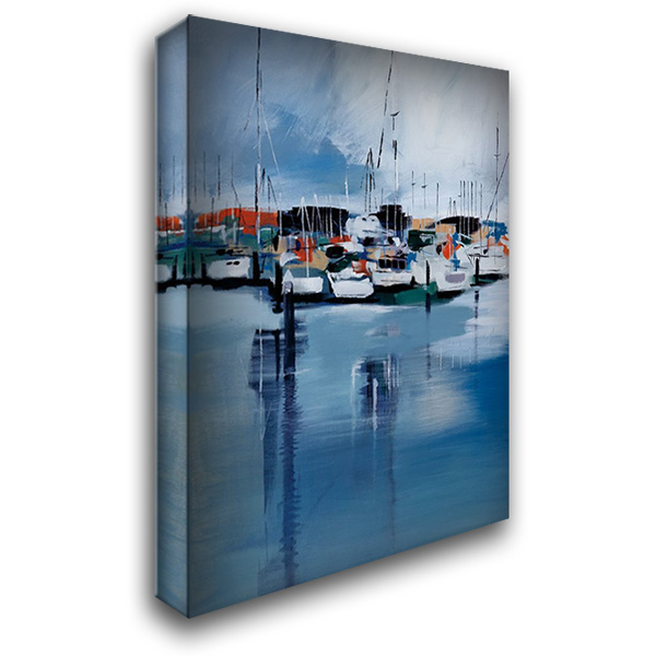 Docked 28x40 Gallery Wrapped Stretched Canvas Art by Fitsimmons, A.