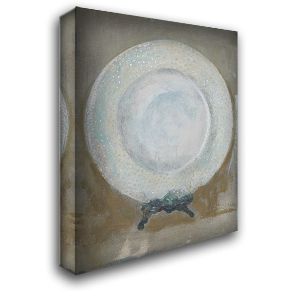 Dinner Plate I 28x36 Gallery Wrapped Stretched Canvas Art by Stajan-Ferkul, Andrea