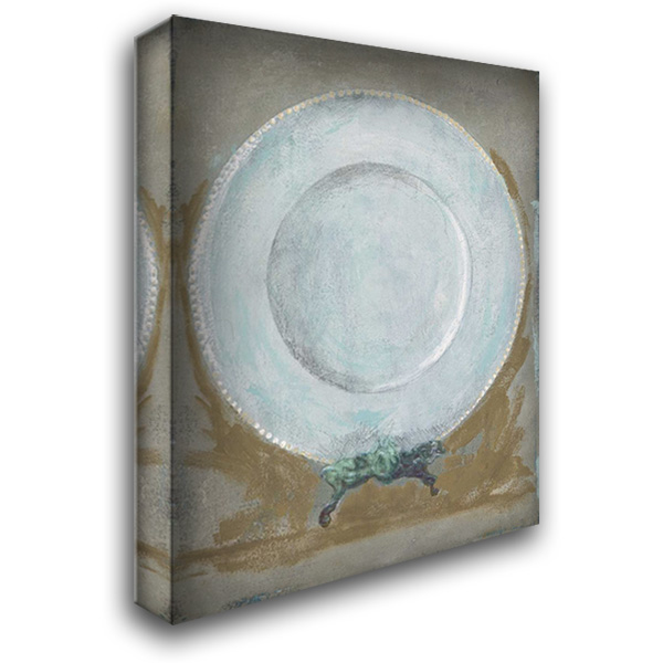 Dinner Plate II 28x36 Gallery Wrapped Stretched Canvas Art by Stajan-Ferkul, Andrea
