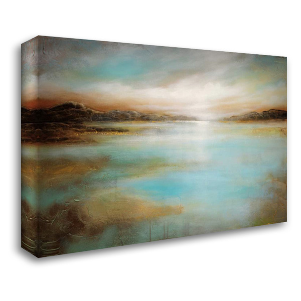 Distant Shores 40x28 Gallery Wrapped Stretched Canvas Art by Arnott, Linzy