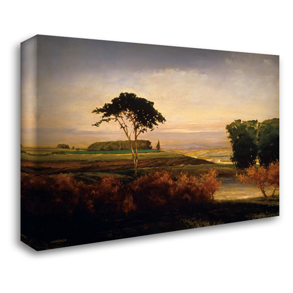 Distant Valley 38x28 Gallery Wrapped Stretched Canvas Art by Lovelace, Kent