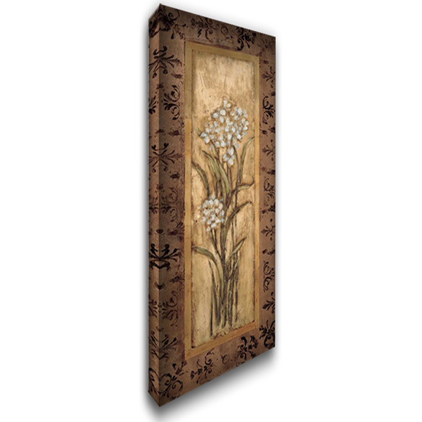 Paperwhites I 18x40 Gallery Wrapped Stretched Canvas Art by Mindeli