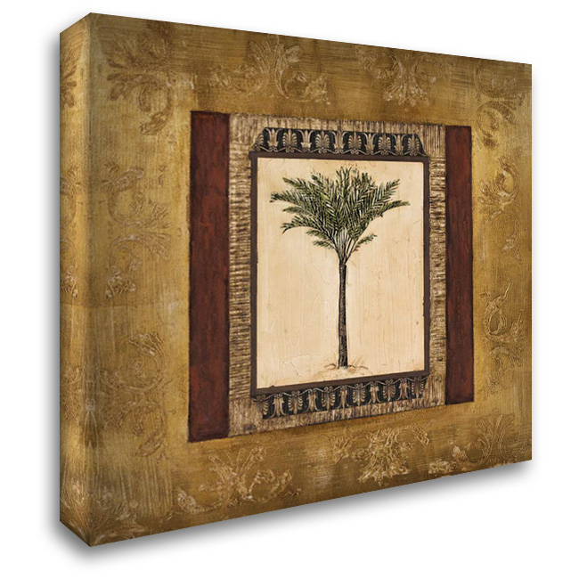 Stately Palm I 28x28 Gallery Wrapped Stretched Canvas Art by Mindeli