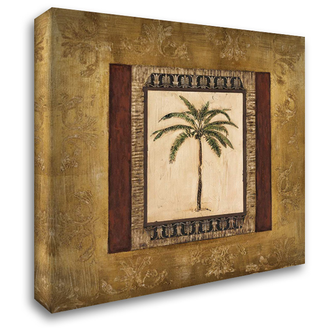Stately Palm II 28x28 Gallery Wrapped Stretched Canvas Art by Mindeli