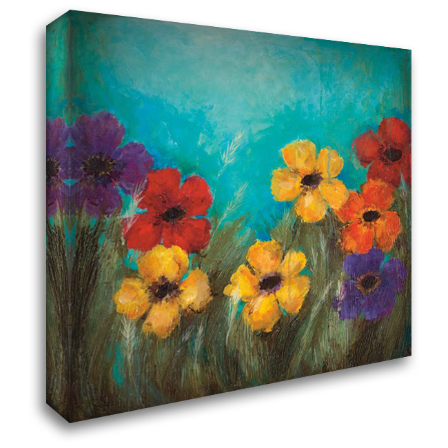 HAPPY 28x28 Gallery Wrapped Stretched Canvas Art by Pasion, Wani