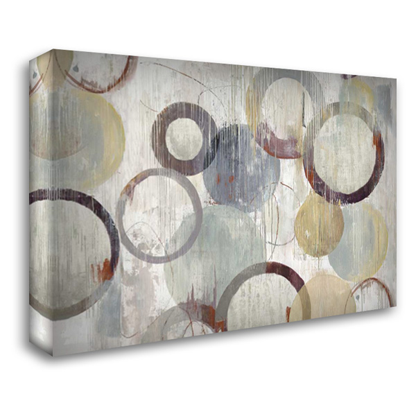 Distressed Rings III 40x28 Gallery Wrapped Stretched Canvas Art by Reeves, Tom