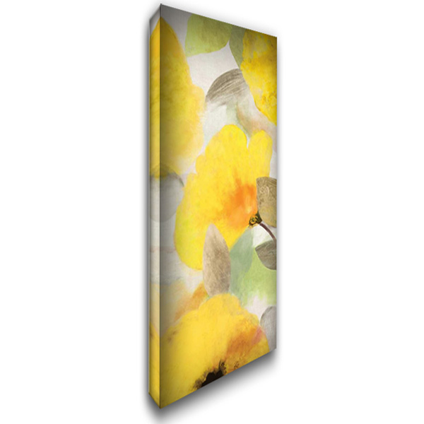 Happy Florals II - Mini 19x40 Gallery Wrapped Stretched Canvas Art by Wilson, Aimee