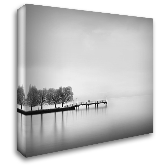 Digalekis - Pier with Trees II 28x28 Gallery Wrapped Stretched Canvas Art by 1x
