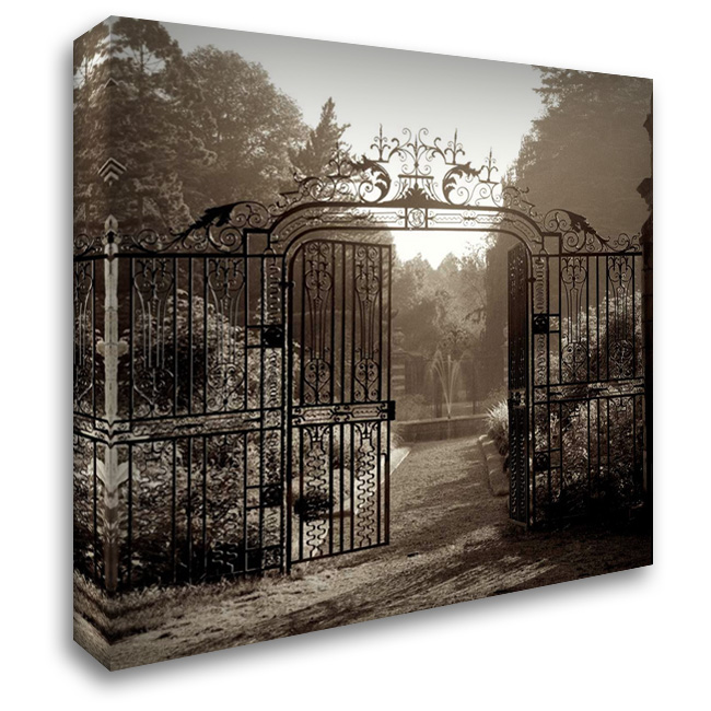 Hampton Gates - 3 28x28 Gallery Wrapped Stretched Canvas Art by Blaustein, Alan
