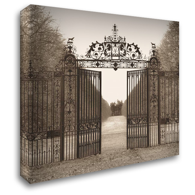 Hampton Gate 28x28 Gallery Wrapped Stretched Canvas Art by Blaustein, Alan