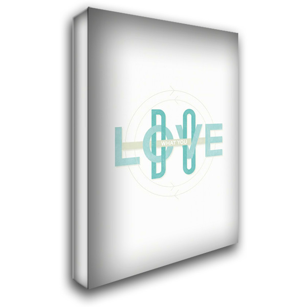 Do What You Love 28x38 Gallery Wrapped Stretched Canvas Art by Beer, Hannes
