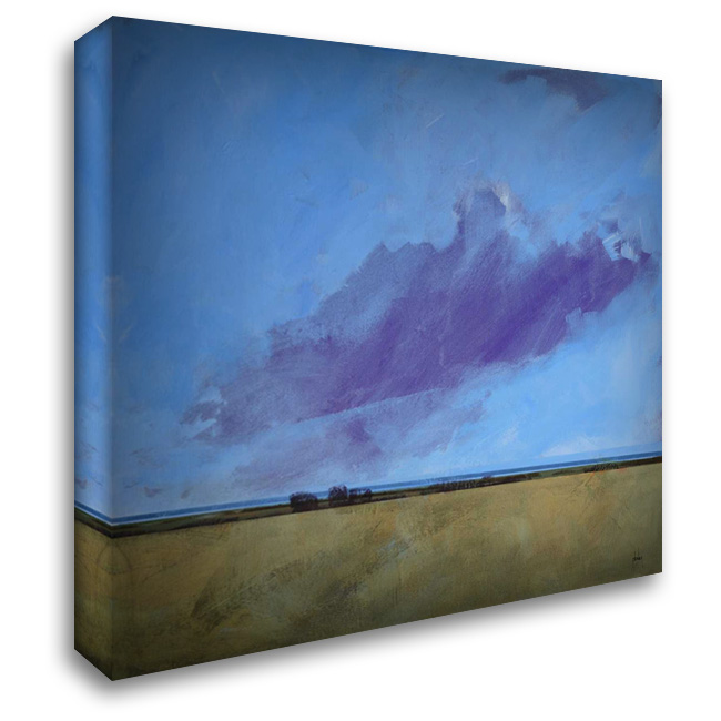 Distant River 28x28 Gallery Wrapped Stretched Canvas Art by Bailey, Paul