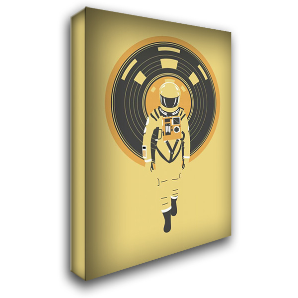 DJ Hal 28x38 Gallery Wrapped Stretched Canvas Art by Farkas, Robert