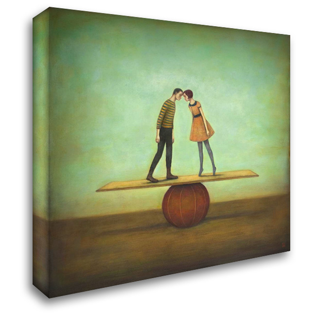 Finding Equilibrium 28x28 Gallery Wrapped Stretched Canvas Art by Huynh, Duy
