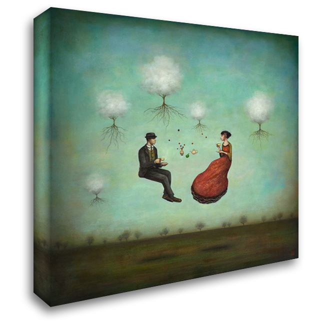 Gravitea For Two 28x28 Gallery Wrapped Stretched Canvas Art by Huynh, Duy